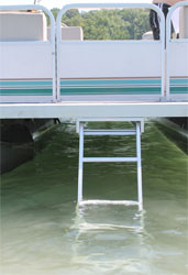 stow away pontoon boat ladder
